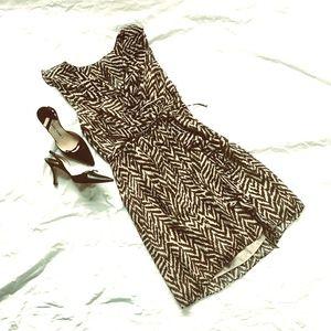 EUC Milly of NY zebra print silk ruffle dress sz 4